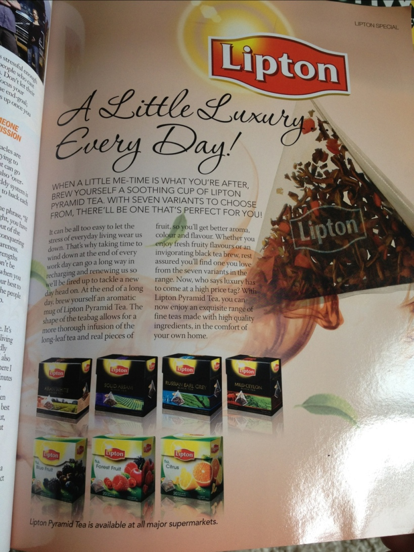 Lipton pyramid tea bags