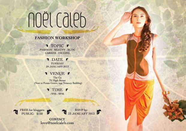 noel caleb fashion blogger wkshop 23Jan'13 poster