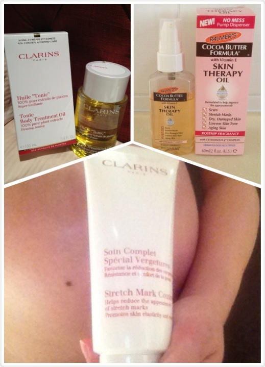 stretch mark cream and anti-stretch mark oils