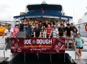 The team that work and play together, stays together!  Photo: Joe & Dough Facebook page