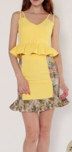 Carnation Brocade Dress Set (yellow), $32. Image credit: Lexi Lyla
