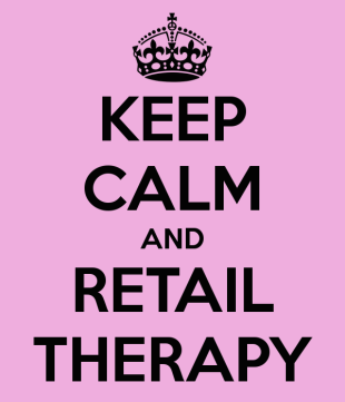 keep calm and retail therapy