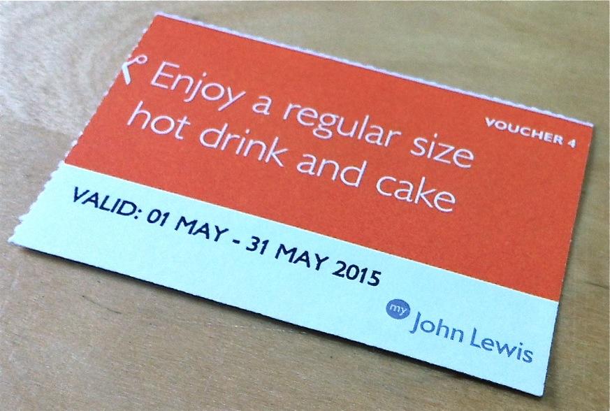 John Lewis Free Hot Drink And Cake