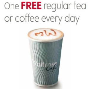 Waitrose Free Tea or Coffee