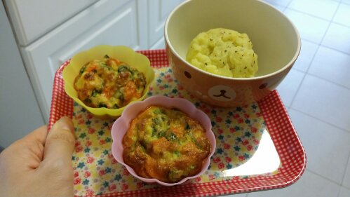 mashed potato savoury egg muffins