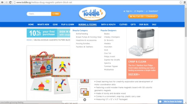 online shopping baby mummy essentials toddle,sg