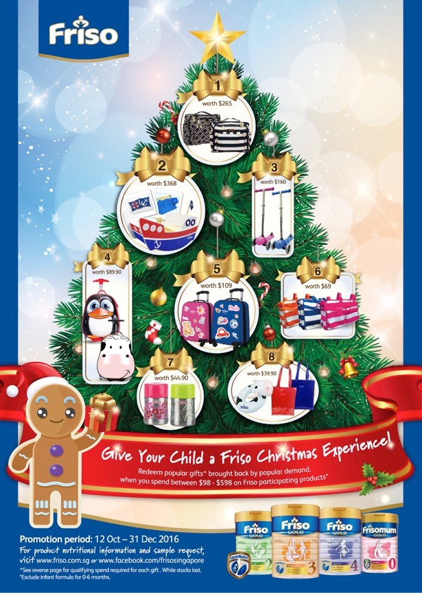 A gift for mummy, or a gift for the kids? FRISO lets you decide on your Christmas gift!