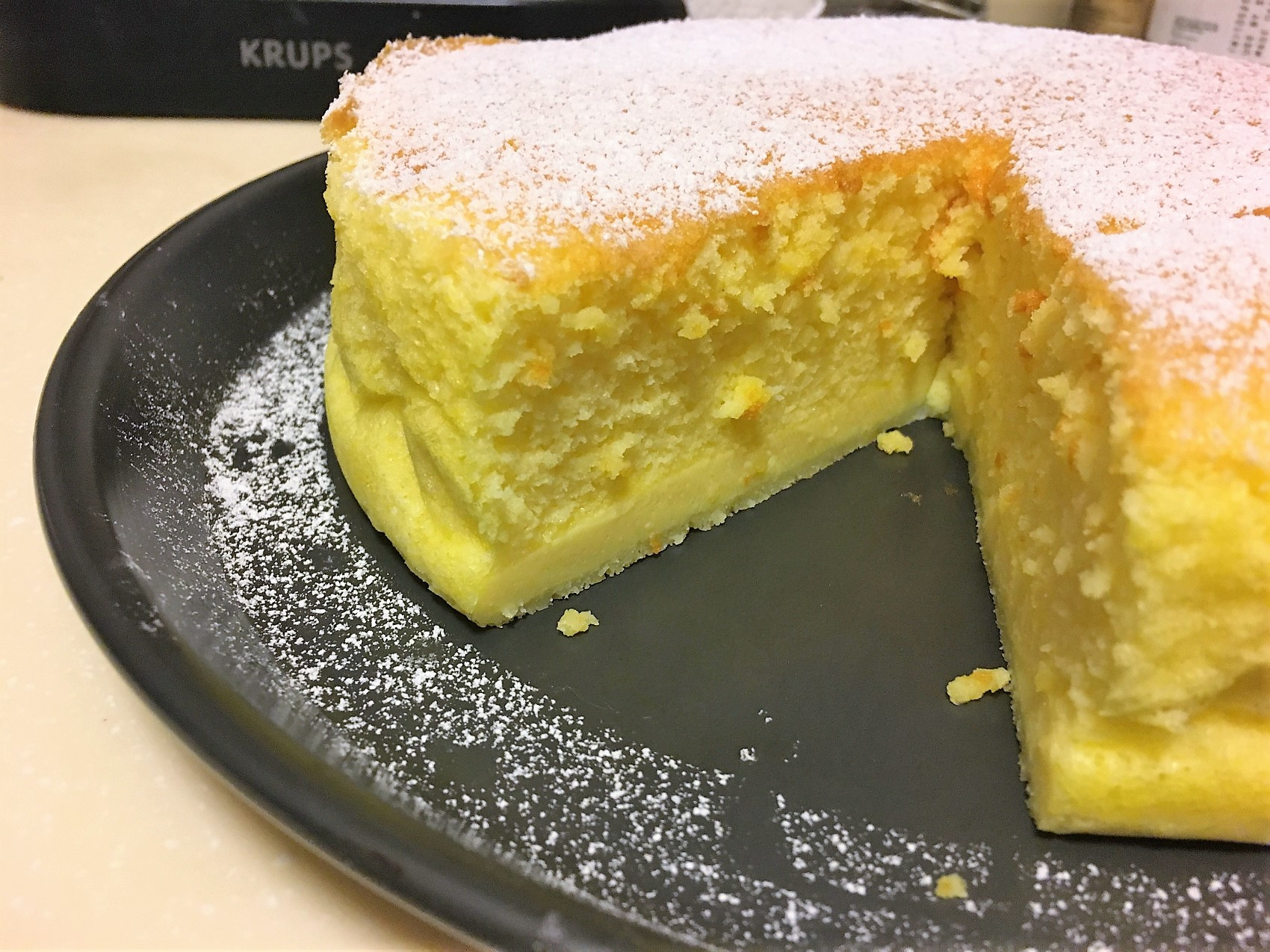 pretty japanese cheesecake
