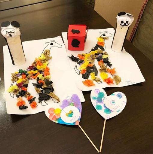 kids art and craft work at Badanamu class